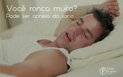 Ronco pode ser sinal de apneia do sono